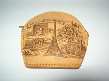 PORTE-MONNAIE TOUR EIFFEL NOTRE DAME  PARIS FRANCE  PURSE BORSELLINO PARIGHI ART
