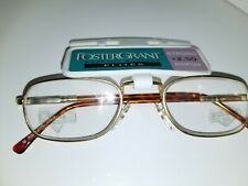 New Vintage 1990s Bright Brass Foster Grant +2.50 Reading Glasses B2 Glass lens