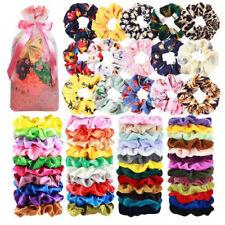 65 Pcs Hair Scrunchies Velvet Chiffon Satin Silk Elastic Bands Hair Accessories