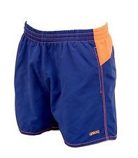 Costume uomo pantaloncino bermuda Arena BICOLOR SHORT blu e arancio fluo