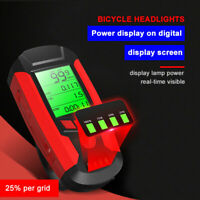 USB Rechargeable LED Bicycle Headlight Bike Head Light Front Lamp with Bell Horn