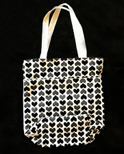 "RVCA MP Tote Bag ""Hearts"" Black/Gray *NEW* 100% Cotton (Mfg Discontinued item)"