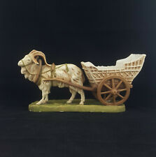 Royal Dux Figurine Goat Pulling Cart Model 951 - Damaged