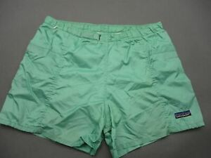 Patagonia Size M Womens Turquoise 100% Nylon Outdoor Lined Baggy Shorts T241