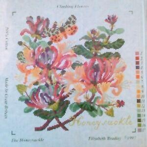 ELIZABETH BRADLEY HONEYSUCKLE TAPESTRY CANVAS CLIMBING FLOWERS CANVAS ONLY
