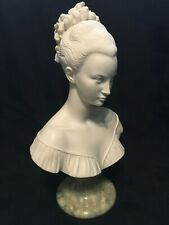 A. Giannelli Lady Bust Bonded Alabaster Vintage Collectable Italian 1980 26cm