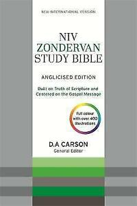 NIV Zondervan Study Bible Anglicised Leather by New International Version