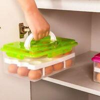 Storage Box 24 Grid Food Container Keep Eggs Fresh Organizer Kitchen Supplies