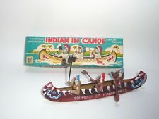 Indian (Native American) in Canoe - Celluloid Japan Toy/Souvenir Complete in Box