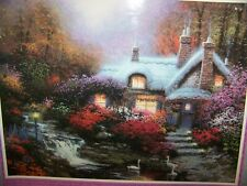 "*NEW"" EVENING AT SWANBROOKE COTTAGE, THOMASHIRE Thomas Kinkade 1000 pc. Puzzle"