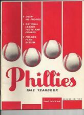 1962 2ND EDITION PHILADELPHIA PHILLIES YEARBOOK NEAR MINT BEAUTIFUL