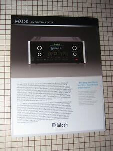 Mcintosh Original MX150 A/V Control Center Brochure