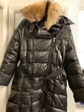 SAM NY Hooded Down Jacket Puffer Coat Real Fur Raccoon Collar $750 M