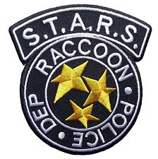 Resident Evil S.T.A.R.S. Raccoon Police Black Logo Patch