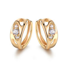 Eye Style Diamond Sapphire Inlay Gold Filled Lady Party Wedding Jewelry Earrings