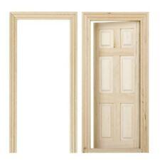Porta in legno per 1/12 casa di bambole in miniatura 6 DIY panello interno C6Y6