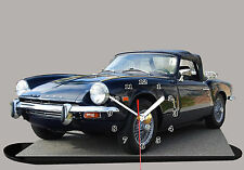 MODEL CARS, TRIUMPH SPITFIRE-03, car passenger, 11,8x 7,8 inches  with Clock