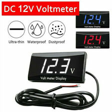 12V Mini Led Waterproof Display Voltmeter Car Voltage Volt Gauge Panel Meter