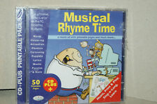 MUSICAL RHYME TIME * A MUSICAL CD WITH PRINTABLE PAGES * NEW & SEALED