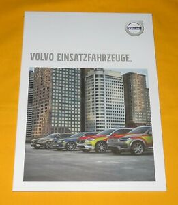 Volvo Einsatzfahrzeuge 2018 Prospekt Brochure Catalog Polizei Police Emergency