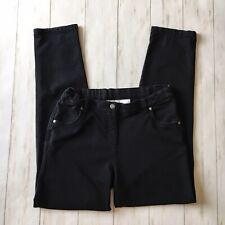 Hanna Andersson Girls Size 150 Us 12 Black Slim Straight Leg Pants
