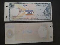 1 Visa Travellers Cheque BNL da 50 dollari - usato e annullato, bellissimo!