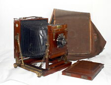 Excellent Ensign Victo Superbe half plate triple extension field camera c.1913
