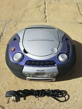 PHILIPS Radio Boombox CD Cassette Player - Bass Boost AZ1110/05 - Fully Working