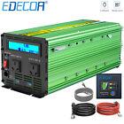 EDECOA POWER INVERTER 3000W 6000W 12V 240V Camping Boat Caravan LCD Remote USB