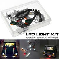 DIY LED Light Lighting Kit ONLY For LEGO Creator 10242 Mini Cooper USB Interface
