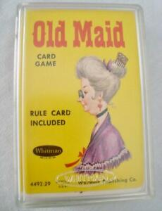 EUC Vintage Whitman Publishing Co. Old Maid Card Game 4492:29 Complete w Case