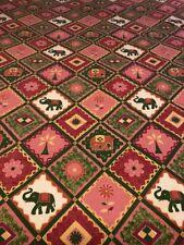 "Vintage BOMBAY DYEING Beautiful ELEPHANT Rectangle Tablecloth 72"" X 90"""