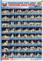Posters JUDO. Blue   belt  1 poster.The technique of judo.KATAME-WAZA.