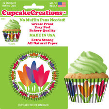 """89842 - """"Tulips"""" Cupcake Creations, No Muffin Pan Required Baking Cups"""