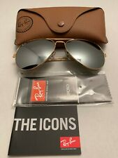 Ray-Ban Aviator Sunglasses RB3026 62-14mm 001/30 Gold Frame with Mirrored Lenses
