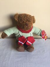 "NWT Hallmark Teddy Mittens Plush 100th Anniversary Of The Teddy Bear 13"" Tall"