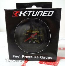 K-Tuned  Fuel Pressure Gauge (BLACK) Marshall 0-100 psi UNIVERSAL