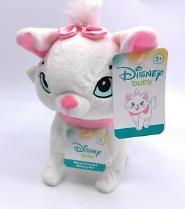 Disney Baby Aristocats Walking Plush Electronic Marie White Pink Cat Sounds Doll