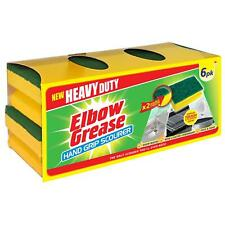 More details for heavy duty elbow grease hand grip sponge scourer double strength 6pk