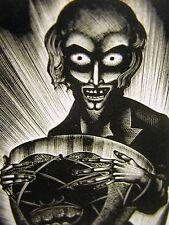 Lynd Ward 1930 EVIL SLAVE TRADER w AFRICAN STOLEN DRUM Art Deco Print Matted