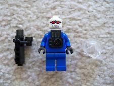 LEGO Batman Minifig - Super Rare - Mr Freeze Minifig with Helmet Gun & Backpack
