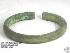 12th Century Djenne Bronze Bracelet African Art Mali