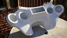 Harley batwing fairing Softail Heritage Fatboy Deluxe fairing 4 speaker white