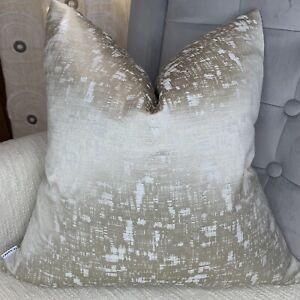 "Luxury Cushion Cover 18"" Stunning Ashley Wilde Fabric Beige Sand Decor"