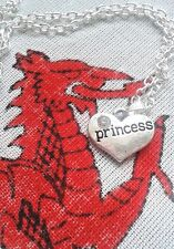 Personal Jewellery Gift Silver Pendant Charm Princess + Silver Plated Necklace