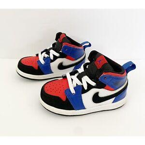 Nike Air Jordan 1 Mid Top 3 640735-124 PS Sneakers Toddler Size 6C