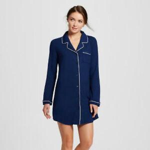 Gilligan & O'Malley Womens Short Night shirt/Gown Nighttime Blue Asst.Sizes  NWT