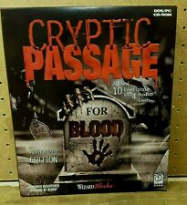 Cryptic Passage For Blood - In Big Box (PC DOS CD-Rom 1998) Brand New Unopene