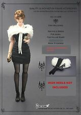 CC266 1/6 One-piece,Fur shawl,Stockings set @HOT TOYS,CY COOL GIRL,CG
