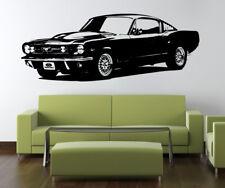Mustang Classique American Muscle Voiture Vinyle Mural Autocollant Sticker VE74